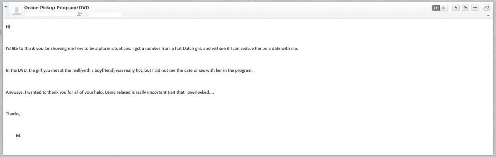 Online Pickup Program DVD testimonial